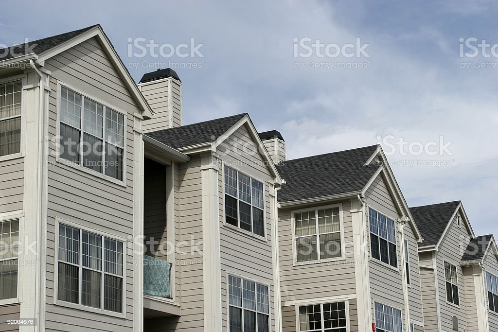 Apartment buildings or townhouses royalty-free stock photo