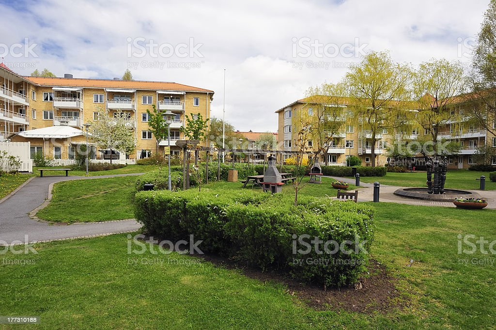 Apartment buildings royalty-free stock photo