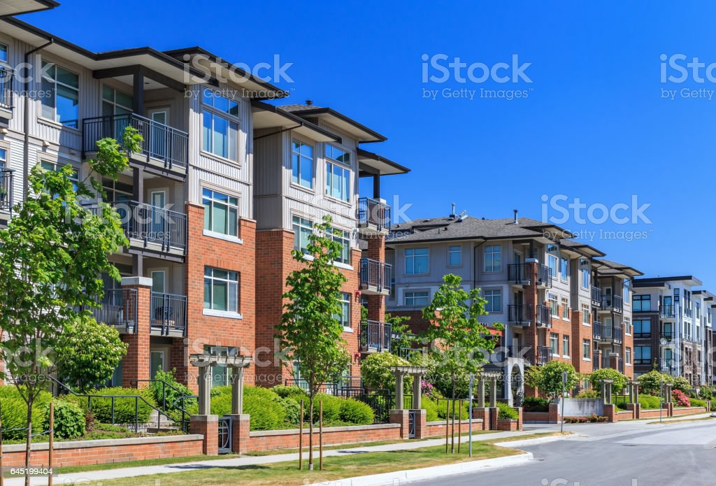 Apartment Buildings stock photo