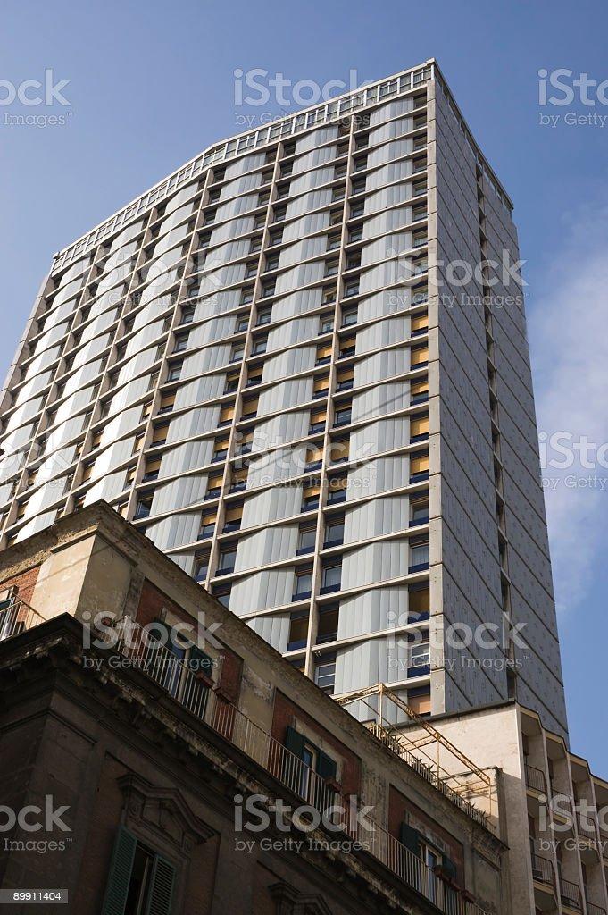 apartment bulding Naples stock photo
