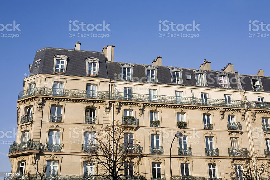 Apartment Complex in Paris France [5000000th iStock Upload] royalty-free stock photo