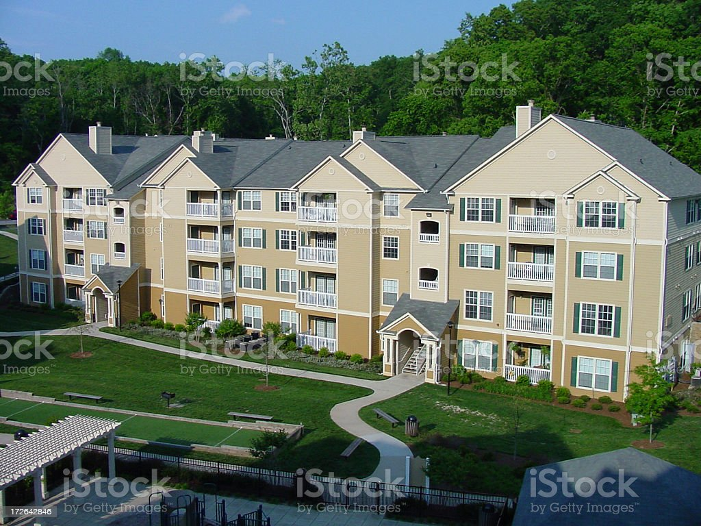 Apartment Complex stock photo