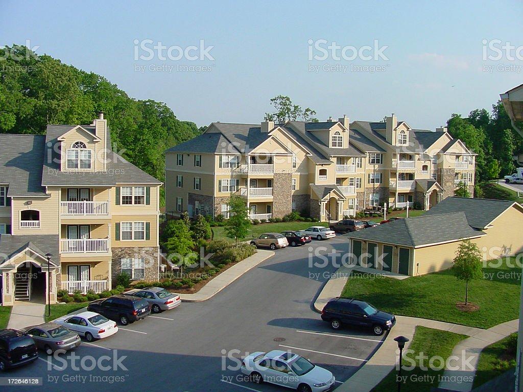 Apartment Complex stock photo
