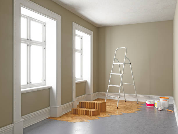 Apartment During Renovation. Home improvement concepts stock photo