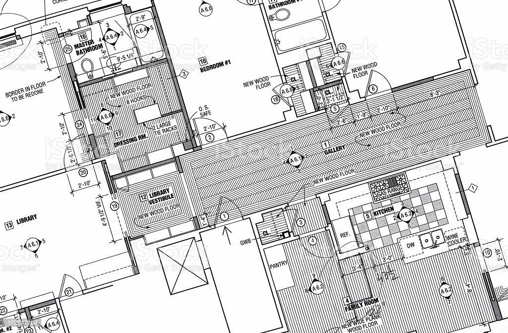 apartment floorplan royalty-free stock photo