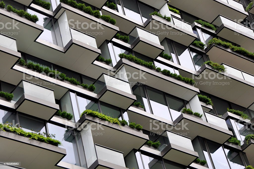 Apartment Garden Horizontal stock photo