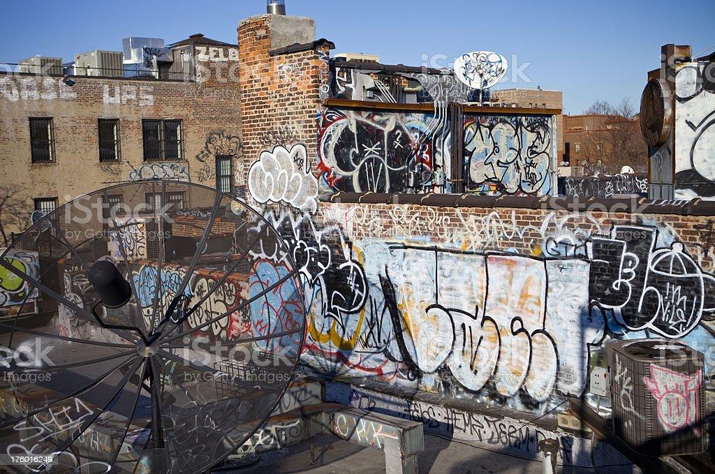 Apartment Graffiti New York City royalty-free stock photo