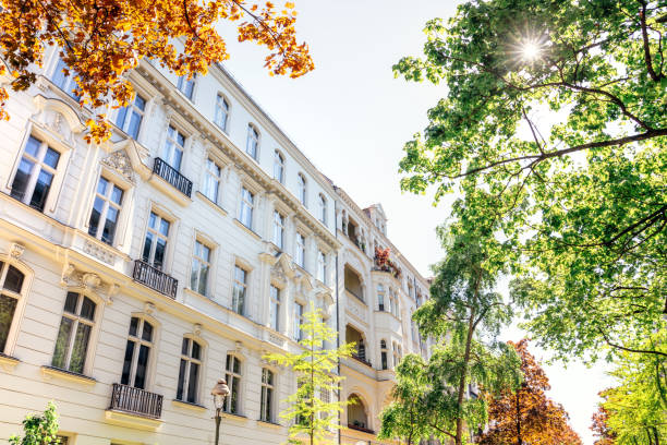 Apartment House in Berlin, Germany Apartment House in Berlin, Germany stone house stock pictures, royalty-free photos & images