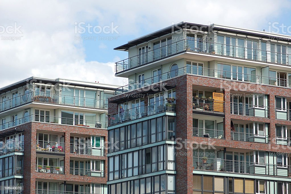 Apartment house in Berlin royalty-free stock photo
