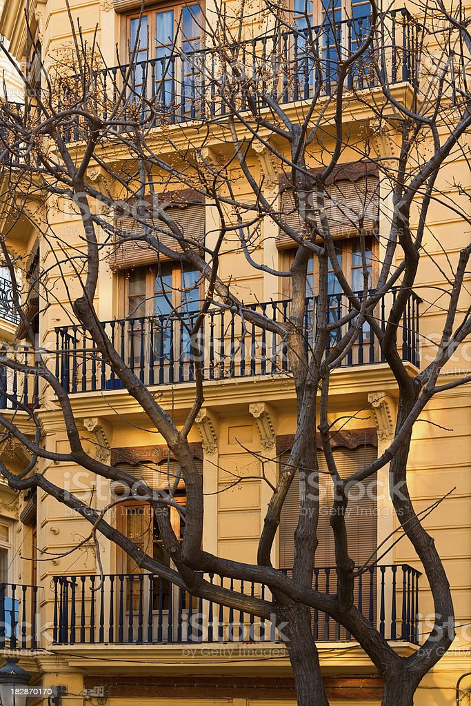 Apartment House in Seville, Spain royalty-free stock photo
