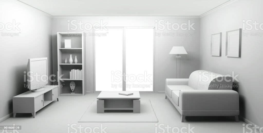 apartment house living room stock photo