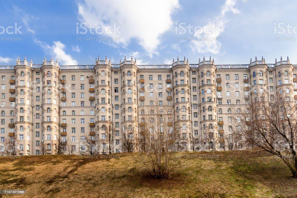 Apartment house on Taras Shevchenko embankment. Sample of Stalin\'s...