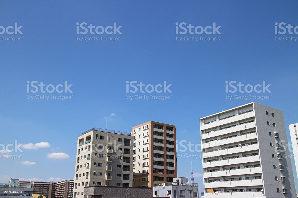Apartment house stock photo