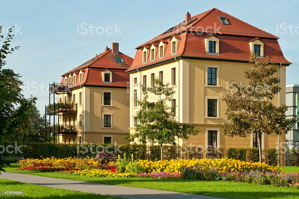apartment houses in the Hofwiesenpark - Gera, Germany royalty-free stock photo