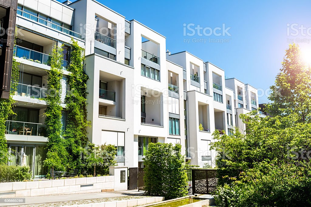 Apartment houses stock photo