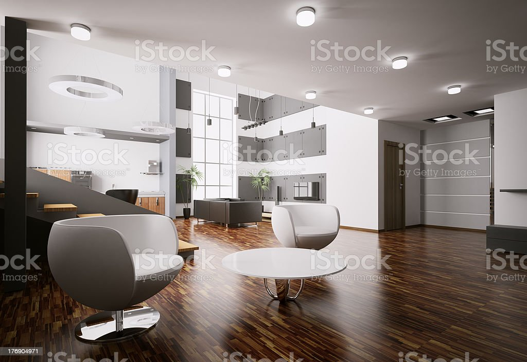 Apartment interior 3d render royalty-free stock photo