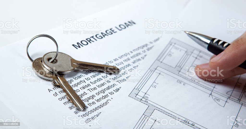 apartment keys apartment plan mortgage loan document and