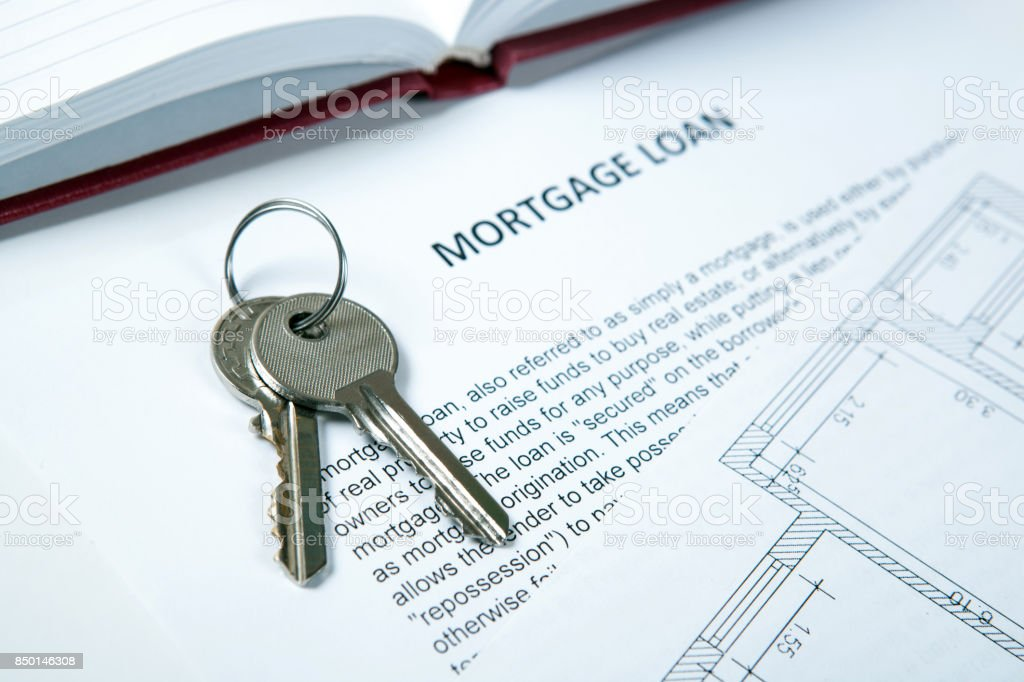 Wohnungsschlüssel Wohnung Plan Hypothekendarlehendokument ...
