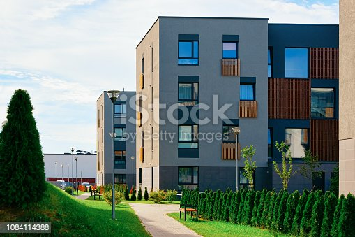 istock Apartment modern houses homes residential buildings real estate outdoor 1084114388