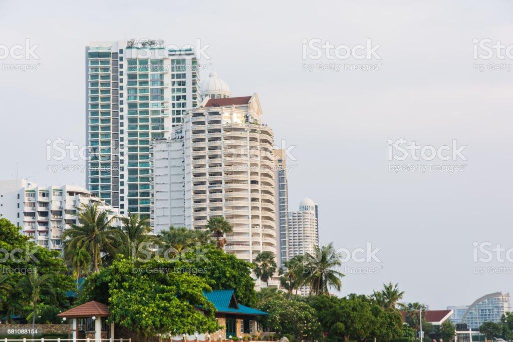 Apartment or condominium building construction royalty-free stock photo