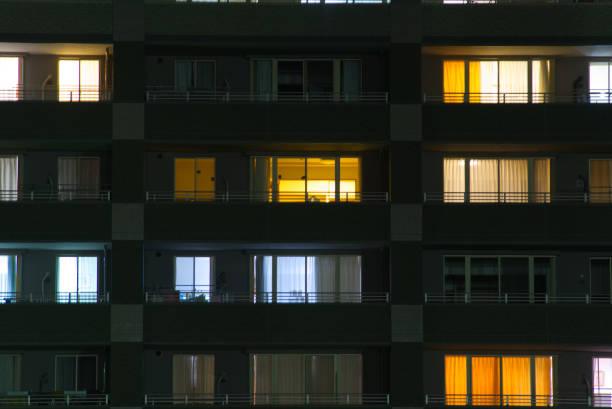 apartment - japanische lampen stock-fotos und bilder