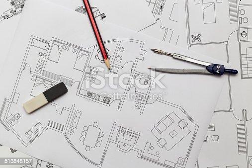 istock Apartment Plan - Blueprints 513848157