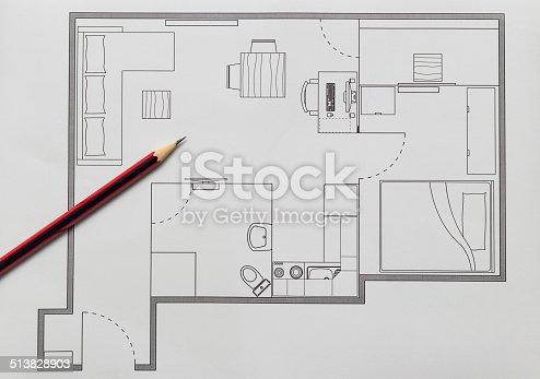 466705128istockphoto Apartment Plan 513828903