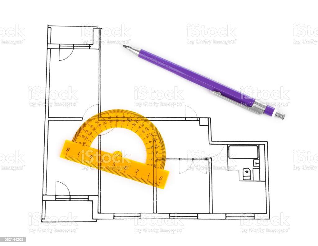 Apartment plan stock photo