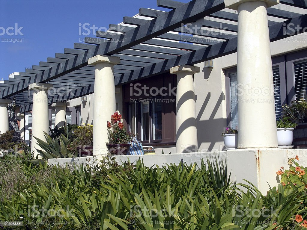 Apartment Porch royalty-free stock photo