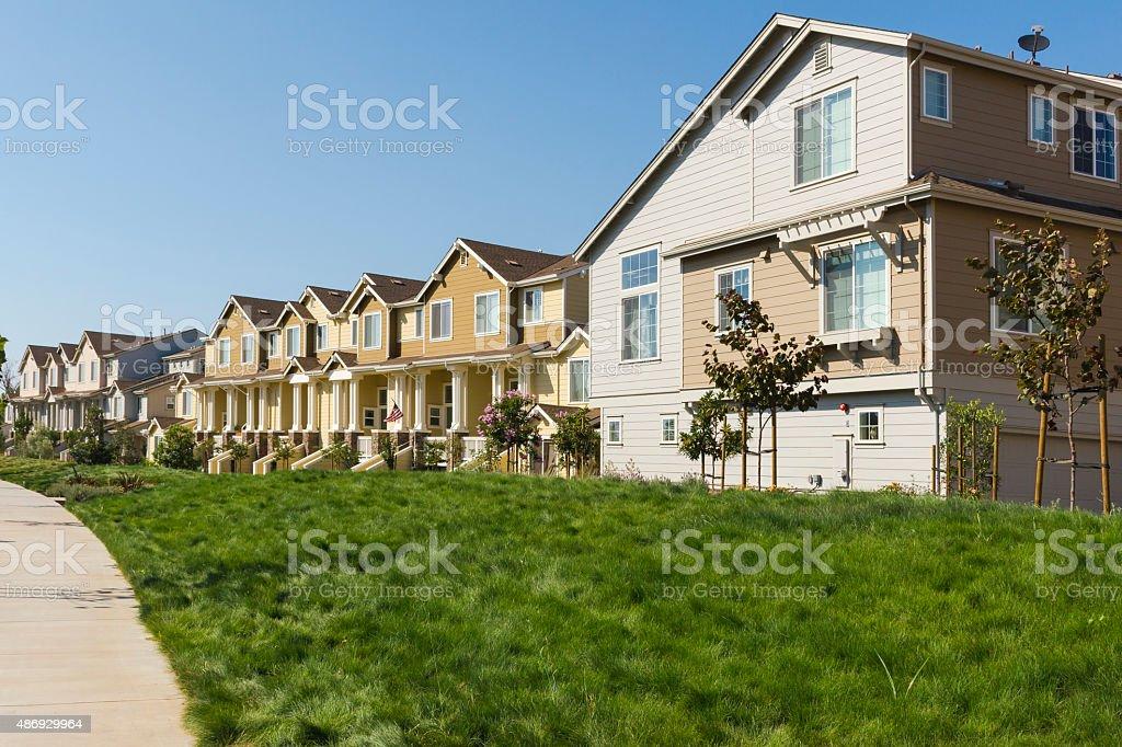 Apartment Row stock photo
