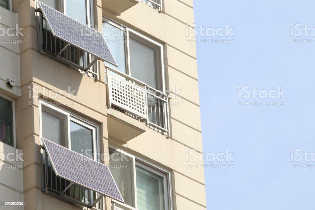 Apartamento solar panel - Foto de stock de Arquitectura libre de derechos