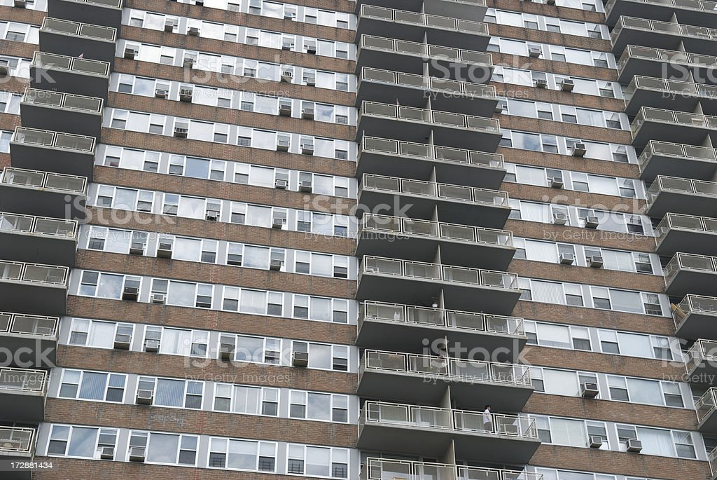 Apartment Tower Abstract royalty-free stock photo
