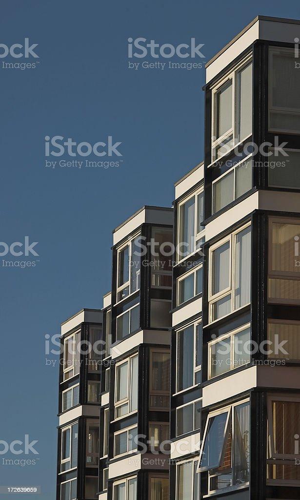 Apartment windows stock photo