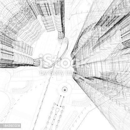 istock Apartment Wireframe 184392028