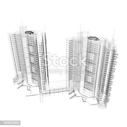 184405668 istock photo Apartment Wireframe 184623532