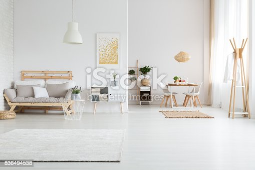 istock Apartment with living room 836494538