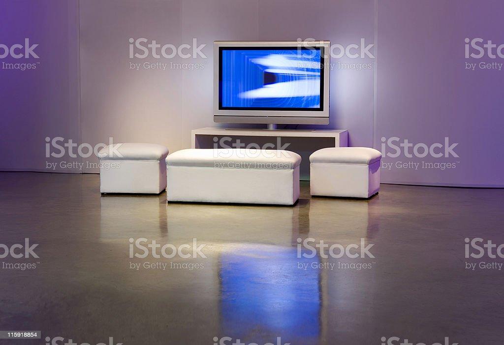 Apartment with Plasma television royalty-free stock photo