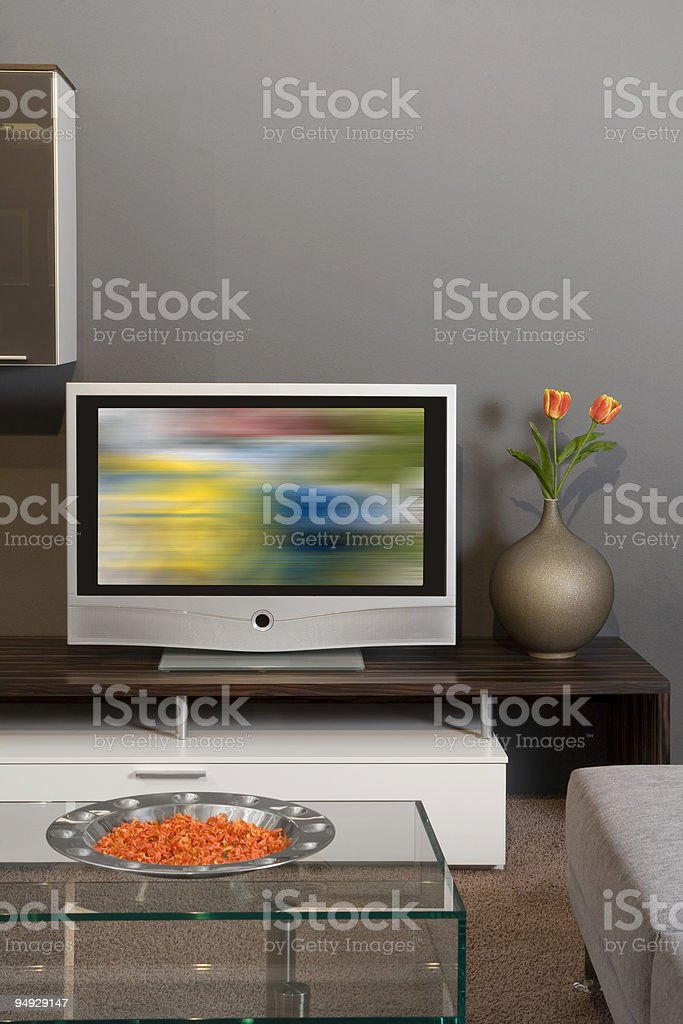Apartment with Plasma television royalty-free stock photo