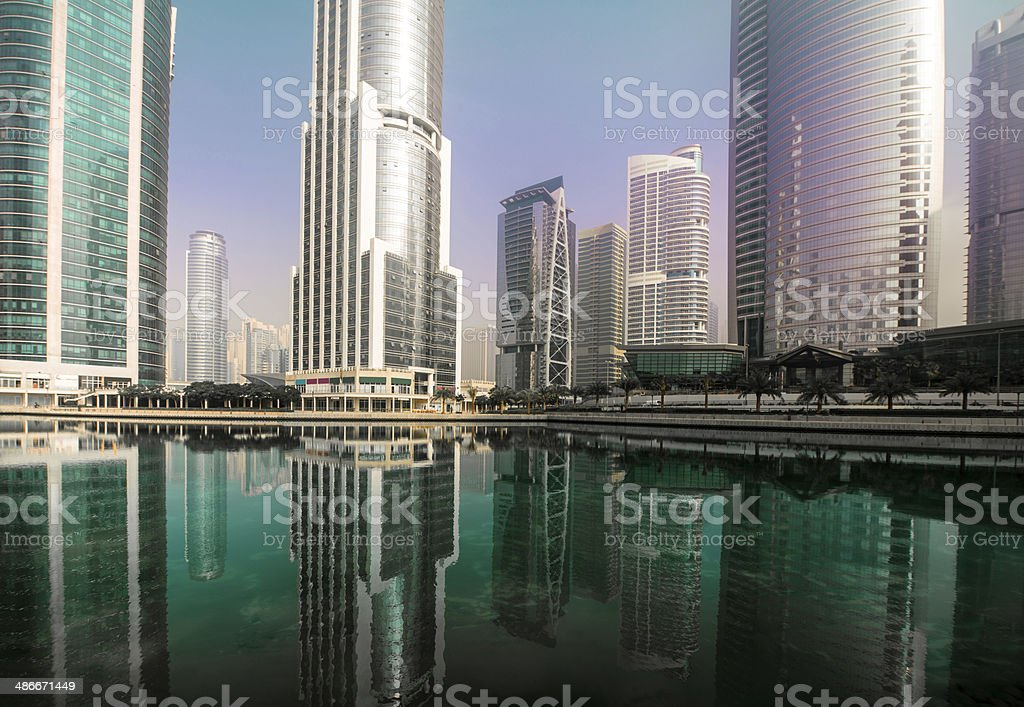 Apartments and office development stock photo