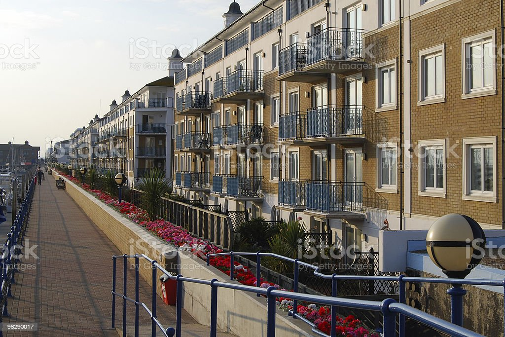 Apartments at Brighton Marina, East Sussex, England royalty-free stock photo
