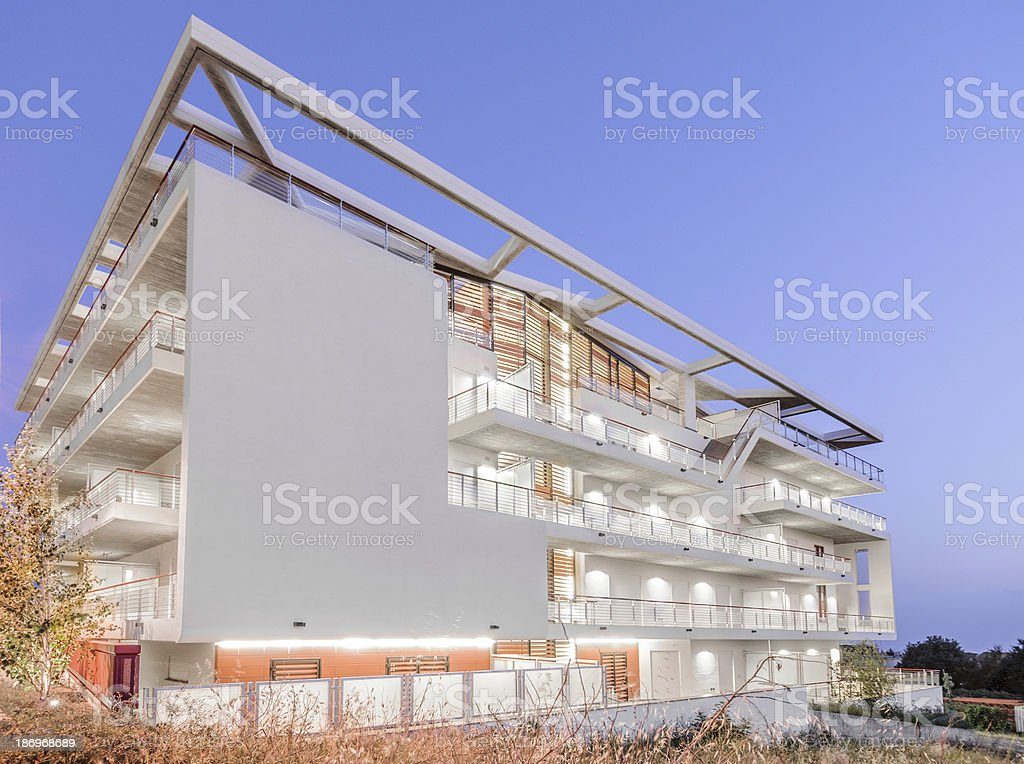 Apartments at twilight royalty-free stock photo
