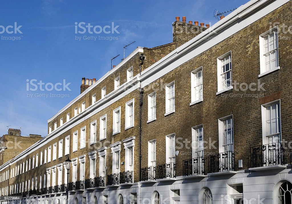 Apartments Building at West-London. stock photo