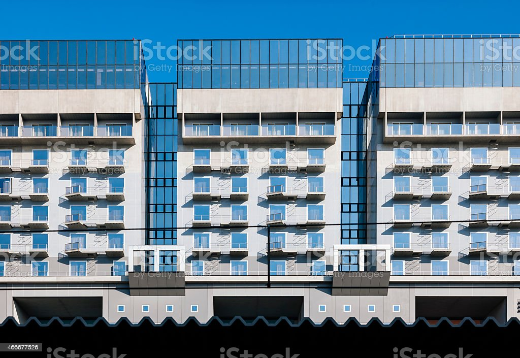 Apartments Building Modern Style Architecture Stock Photo ...