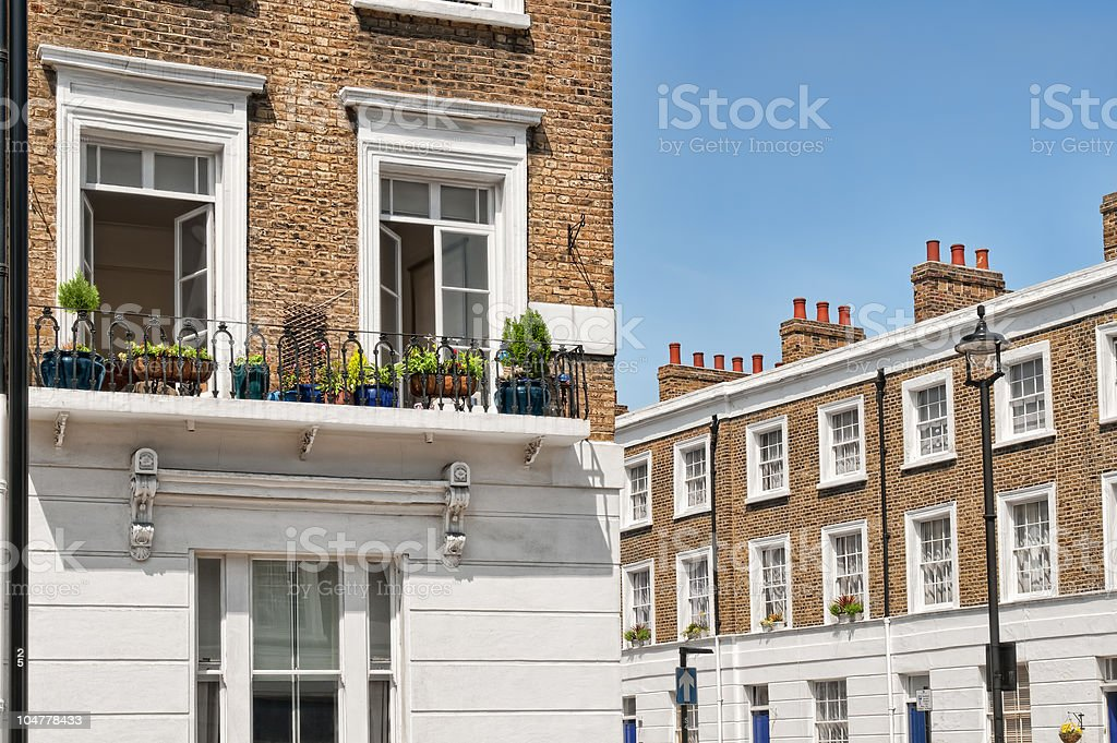 Apartments Buildings at West-London. stock photo