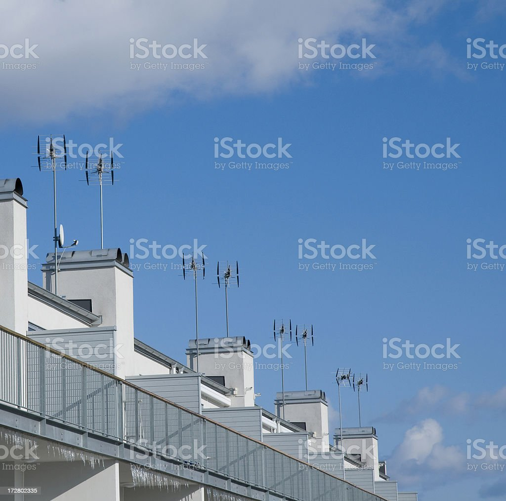 Apartments by the sea royalty-free stock photo