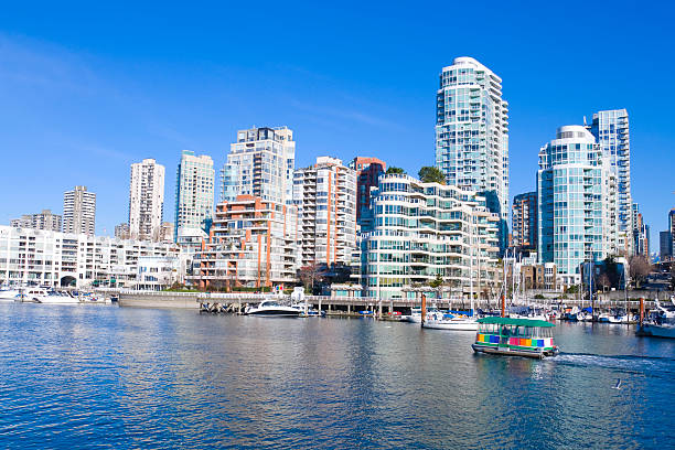 Apartments from Vancouver's Granville Island stock photo