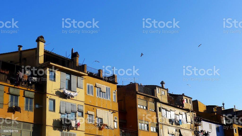 Apartments Gerona stock photo