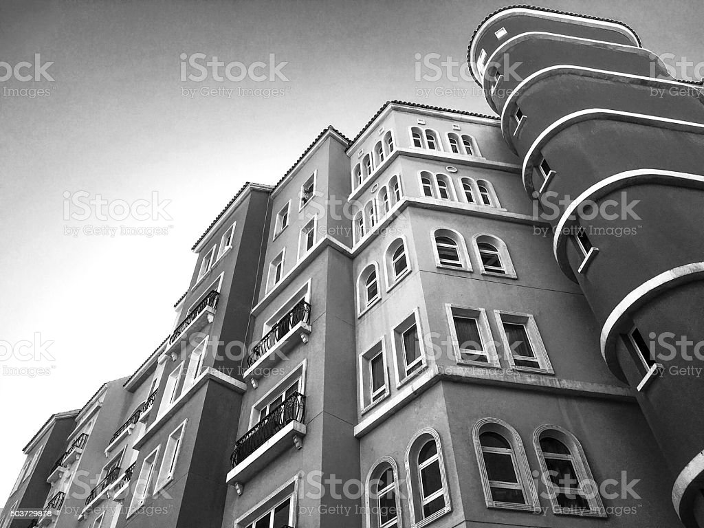 Low angle view of building in a high society. View is from Discovery...