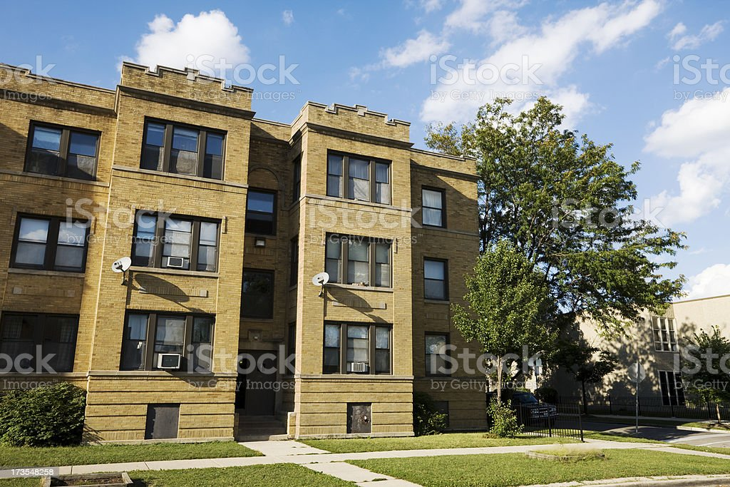 Apartments in Chicago West Side royalty-free stock photo