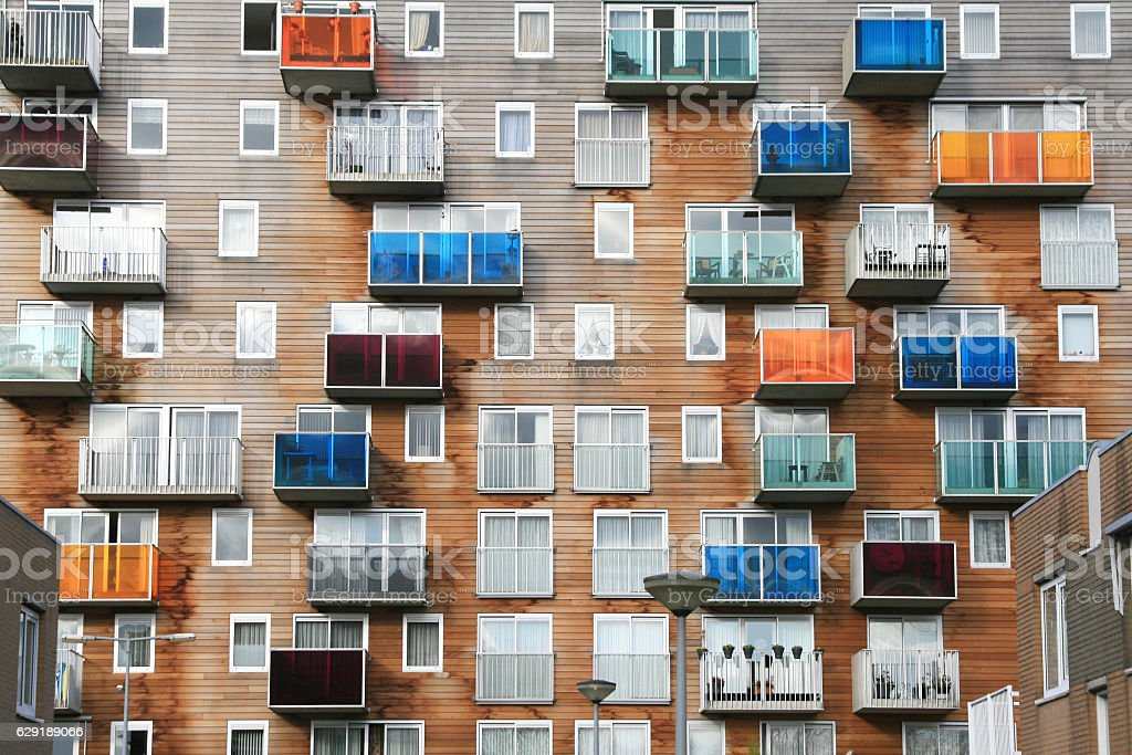 Apartments in Holland royalty-free stock photo